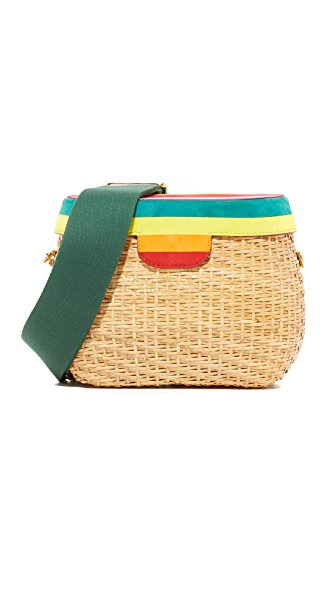 Edie Parker Jane Striped Lid Cross Body Bag