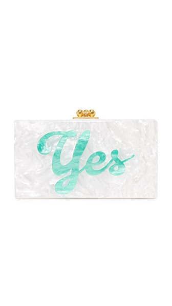 Edie Parker Jean Yes No Clutch