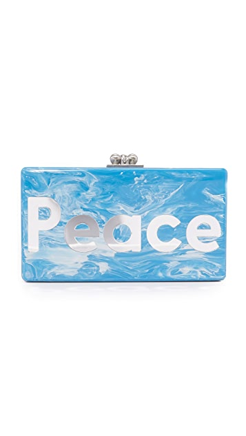 Edie Parker Jean Peace Love Clutch