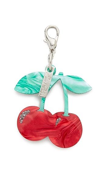 Edie Parker Брелок для ключей с вишнями