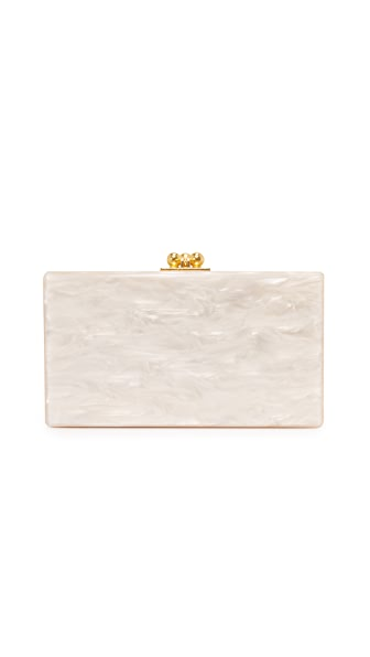 Edie Parker Jean Solid Clutch - Nude Pearlescent