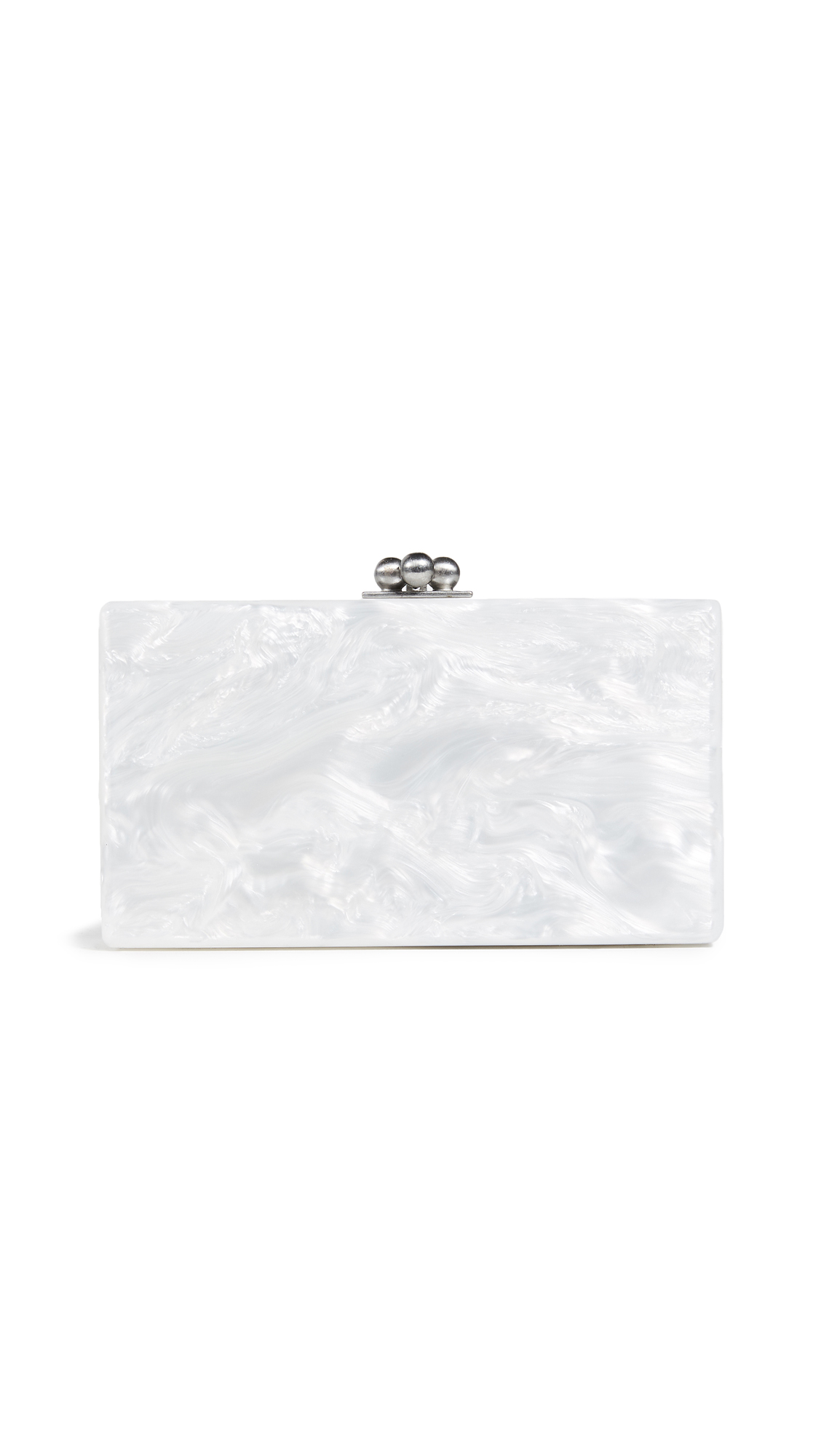 Edie Parker Jean Solid Clutch - White Pearlescent