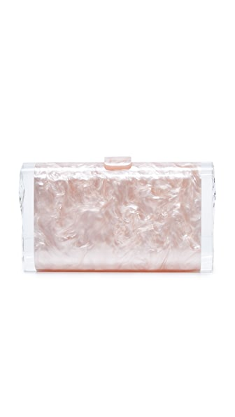 Edie Parker Lara Solid Clutch - Rose Quartz