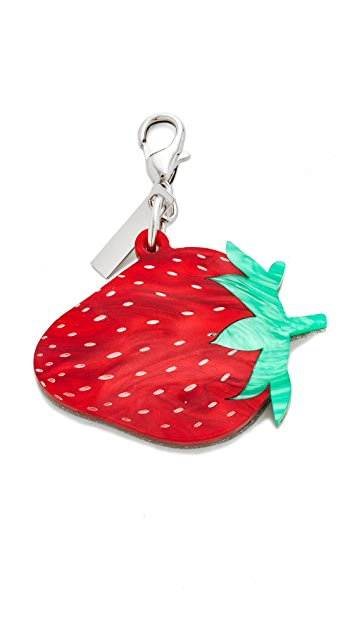 Edie Parker Strawberry Bag Charm
