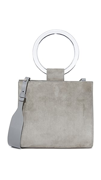 Edie Parker Deuces Suede Bag - Grey