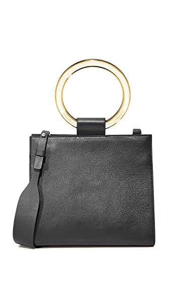 Edie Parker Deuces Leather Bag - Black