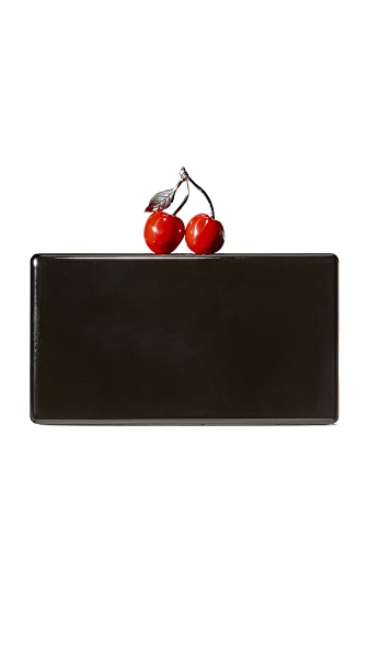 Edie Parker Jean Cherry Clutch - Black
