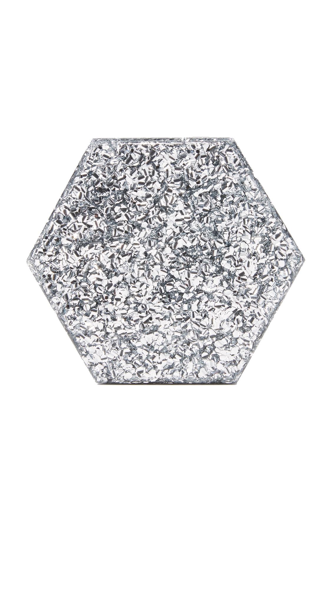 Edie Parker Mini Macy Multi Clutch - Silver Multi