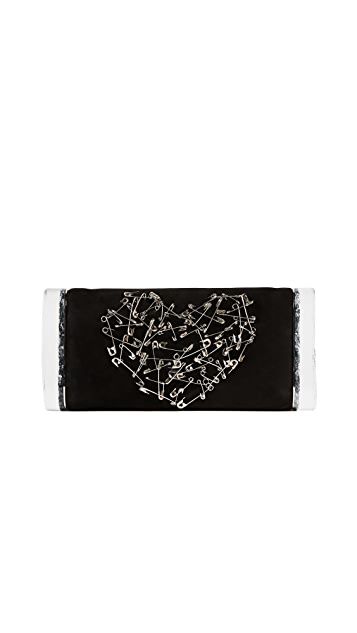 Edie Parker Soft Lara Heart Clutch