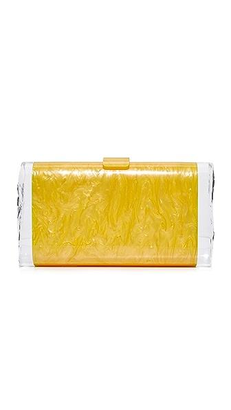 Edie Parker Lara Solid Clutch - Yellow