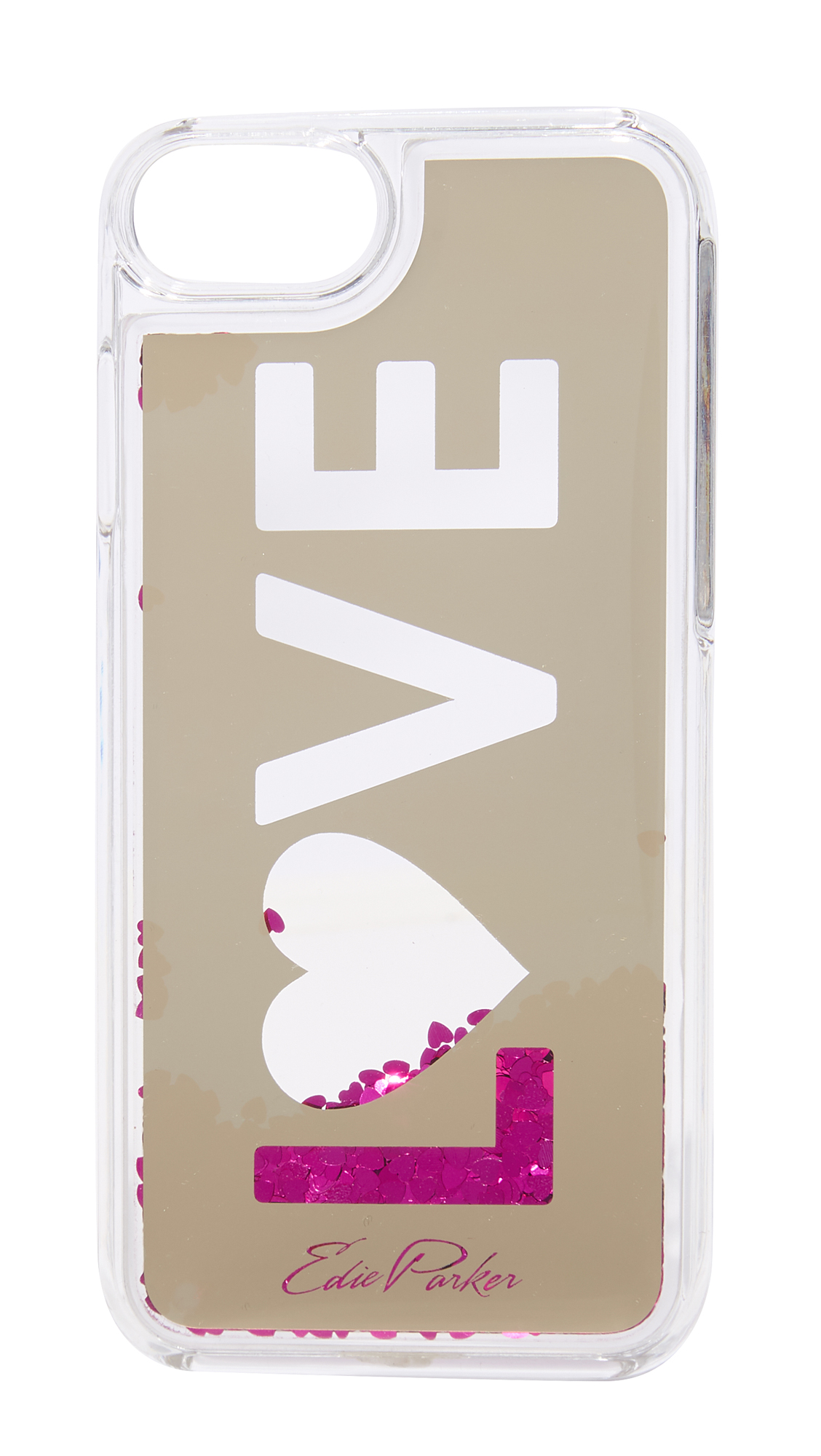 Edie Parker iPhone 6 / 6s / 7 Case Floating Love - Gold/Hot Pink