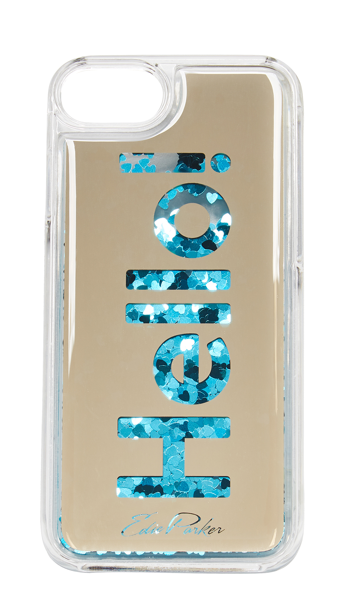 Edie Parker iPhone 6 / 6s / 7 Case Floating Hello - Gold/Blue