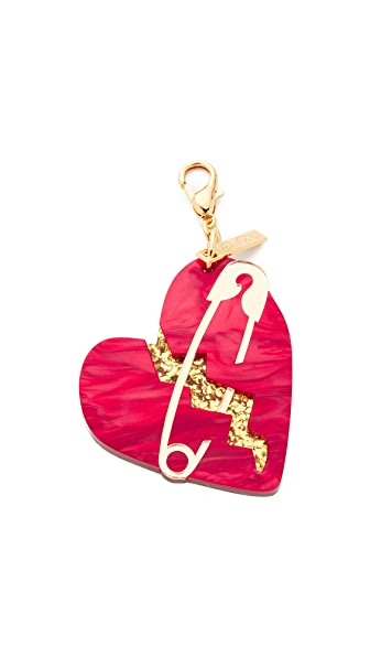 Edie Parker Broken Heart Charm - Red