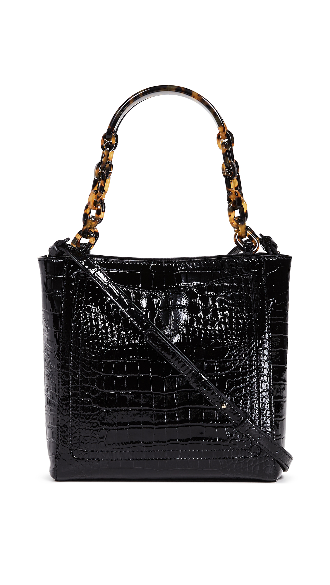 Edie Parker Mini Tote - Black