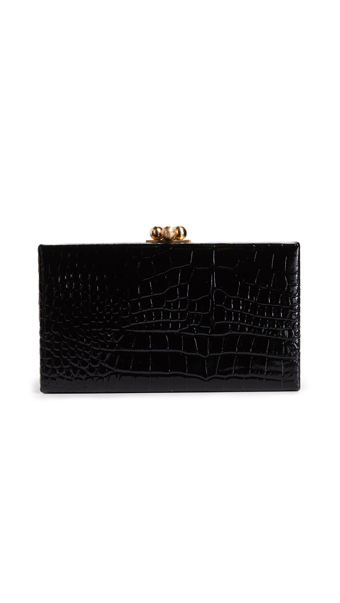 Edie Parker Jean Box Clutch - Black