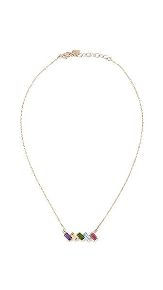 Eden Presley 14k Gold Rainbow Brite Necklace In Rainbow