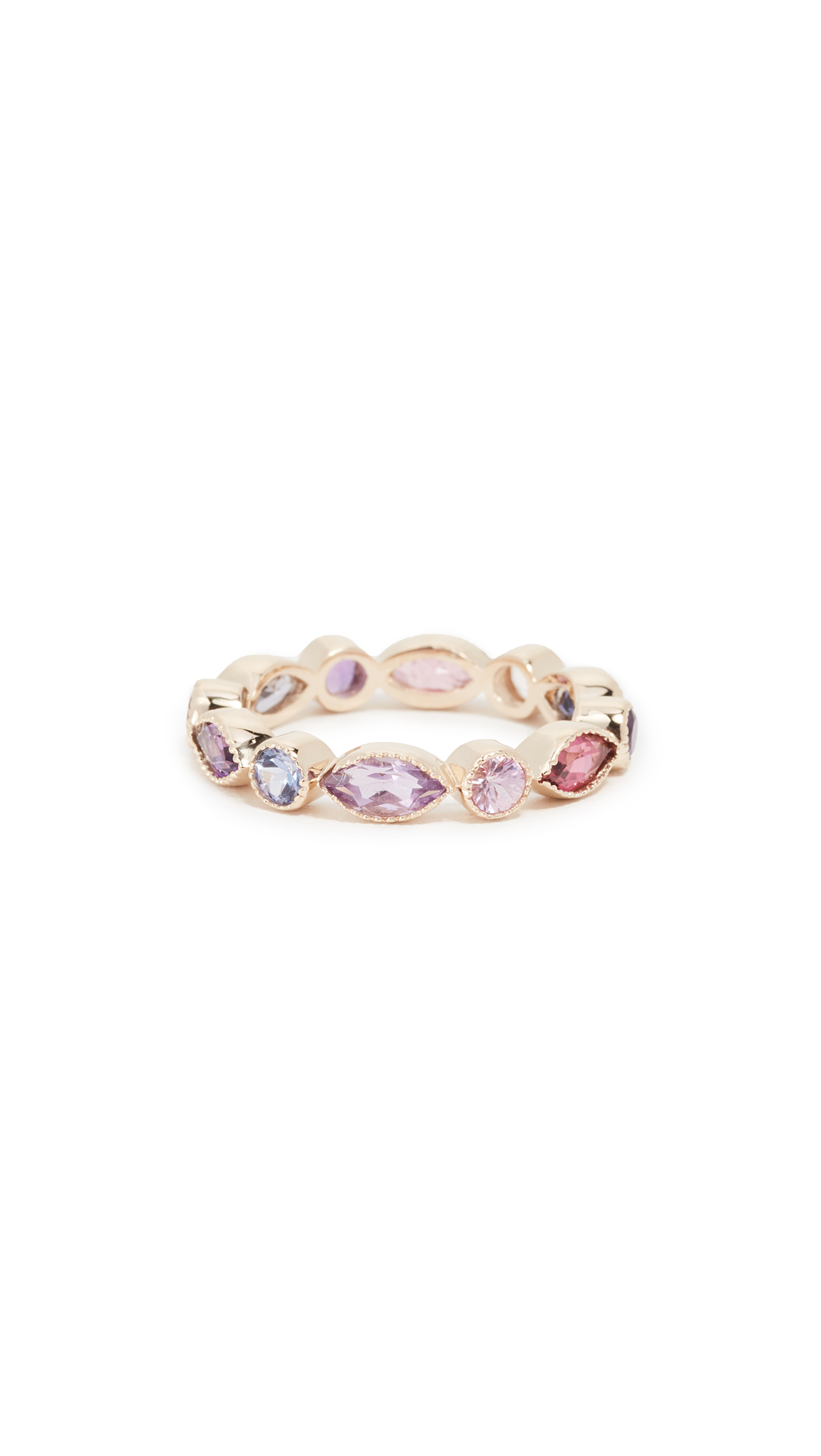 EDEN PRESLEY 14K GOLD MARQUISE ROUND ETERNITY BAND