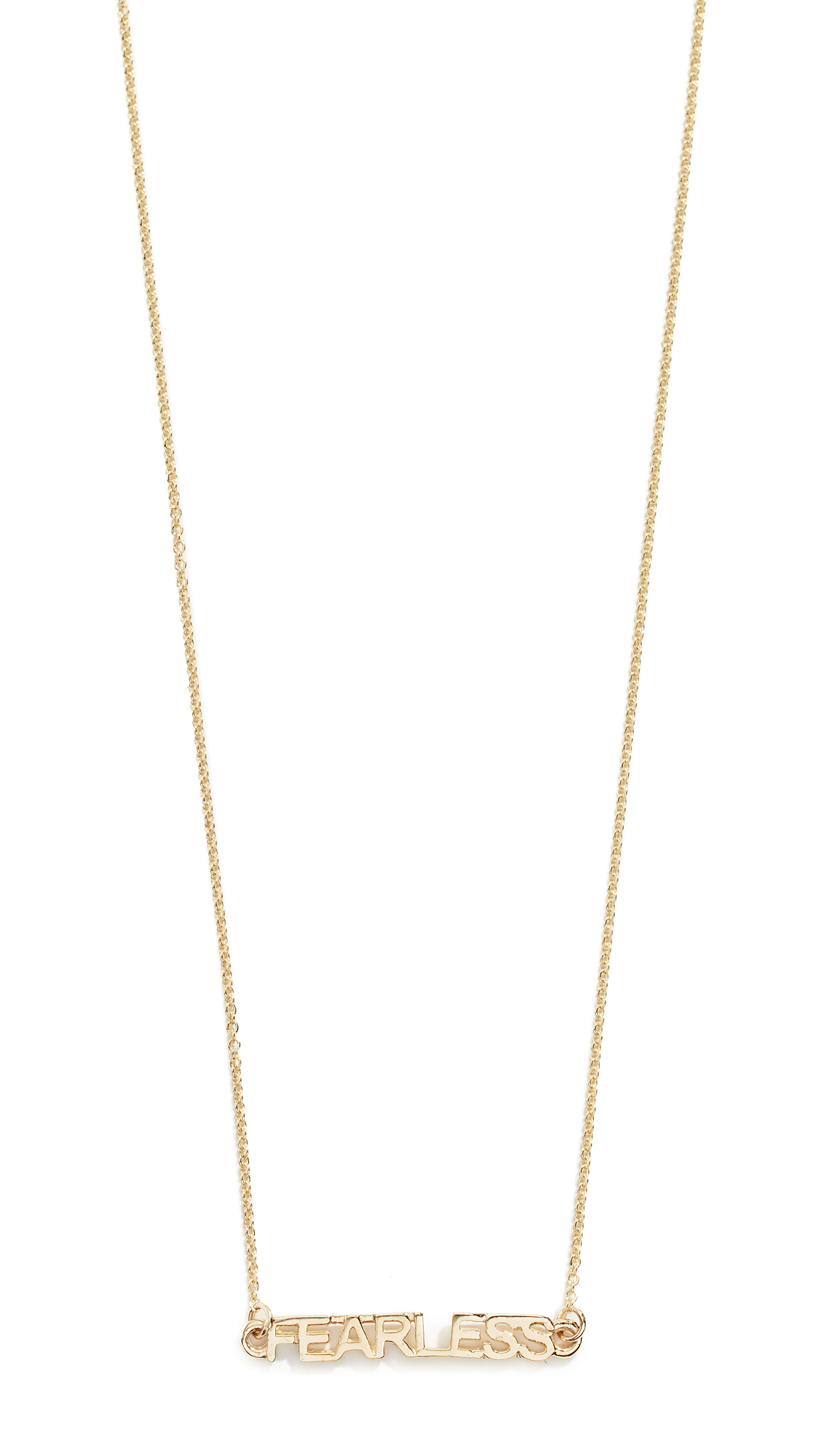 EDEN PRESLEY Fearless  Necklace in Yellow Gold