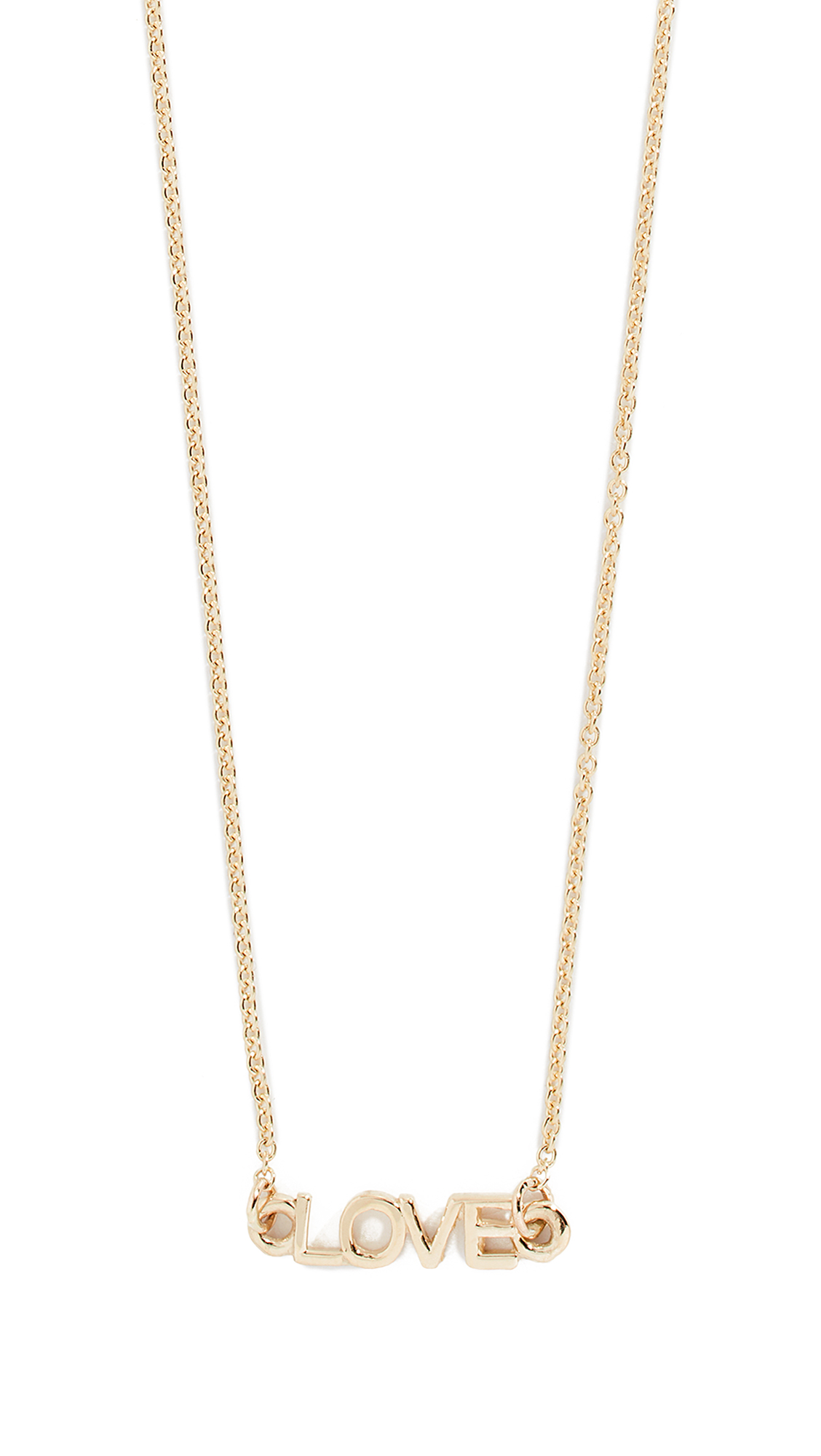 EDEN PRESLEY Love Necklace in Yellow Gold