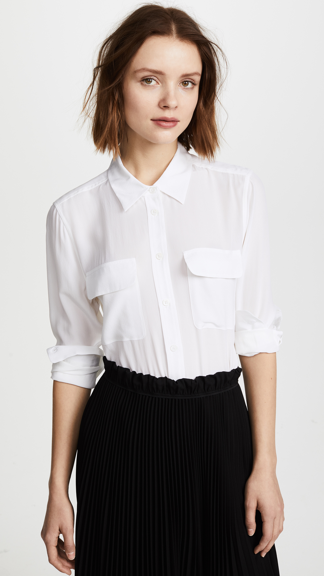Equipment Slim Signature Blouse Shopbop