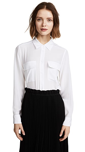 Equipment Slim Signature Blouse In Bright White