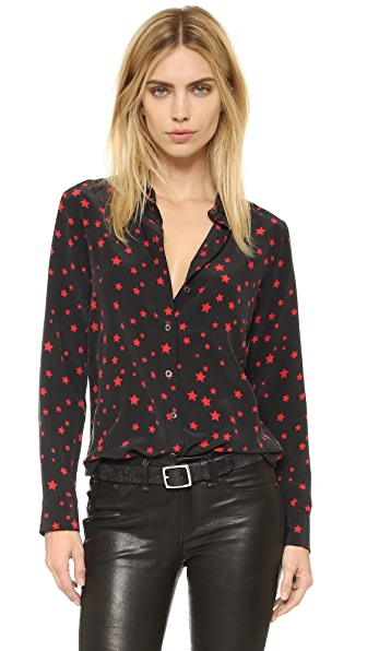Equipment Kate Moss Slim Signature Clean Blouse