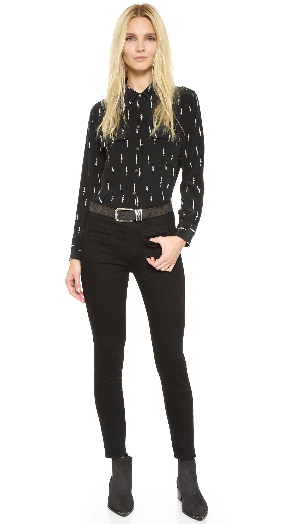 Equipment Kate Moss Slim Signature Blouse Shopbop