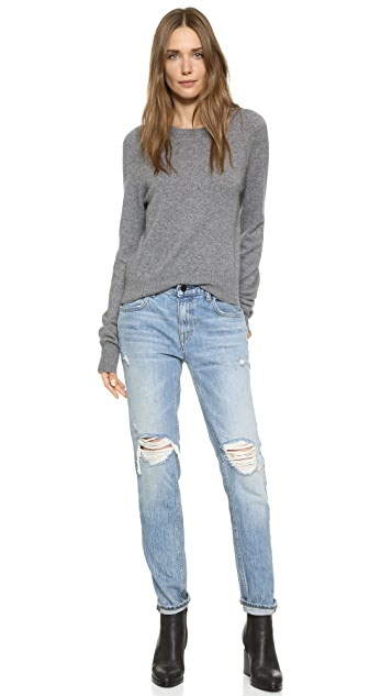 Equipment Kate Moss Ryder Sweater with Elongated Sleeves