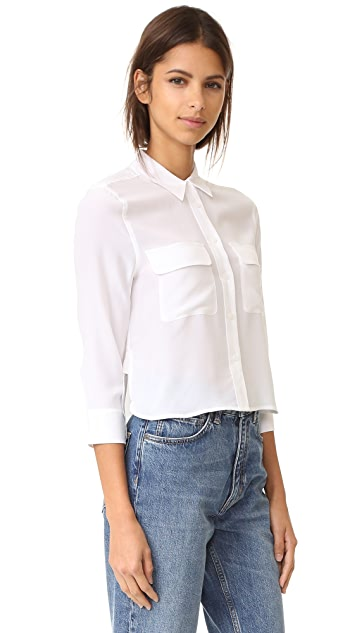 Equipment Cropped 3/4 Sleeve Signature Blouse
