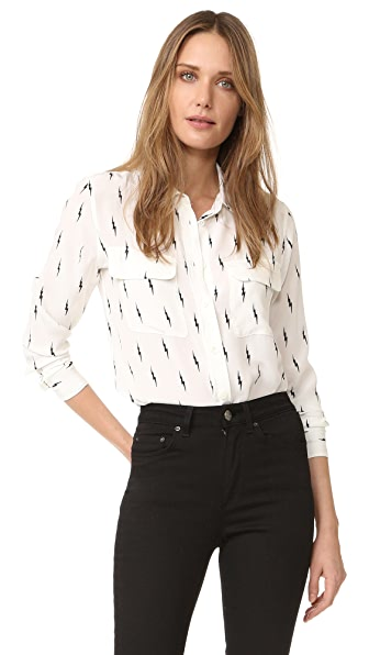Equipment Kate Moss Slim Signature Blouse