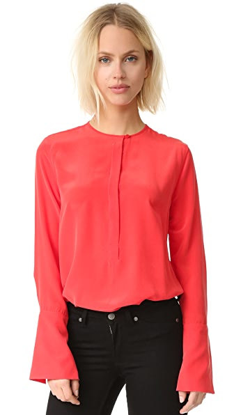 Equipment Kenley Blouse - French Red