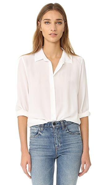 Equipment Essential Button Down Blouse - Bright White