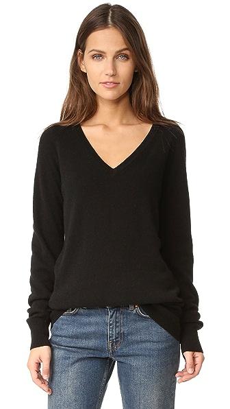 Equipment Asher V-Neck Sweater - Black