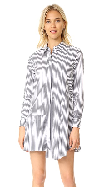 Equipment Gigi Shirtdress - Bright White/Blue Mood