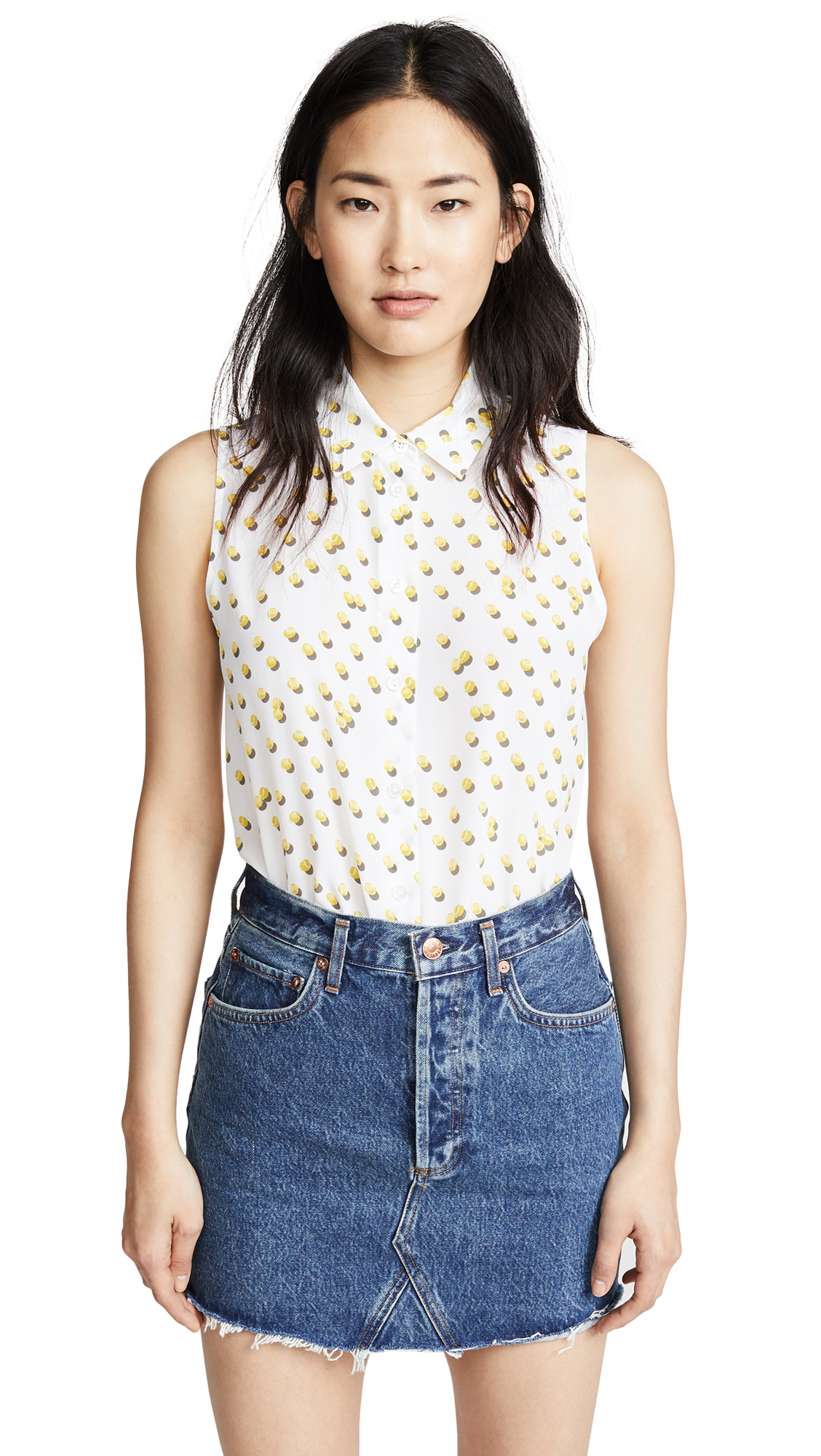 Equipment Colleen Ball Toss Button Down Shirt In Bright White Multi
