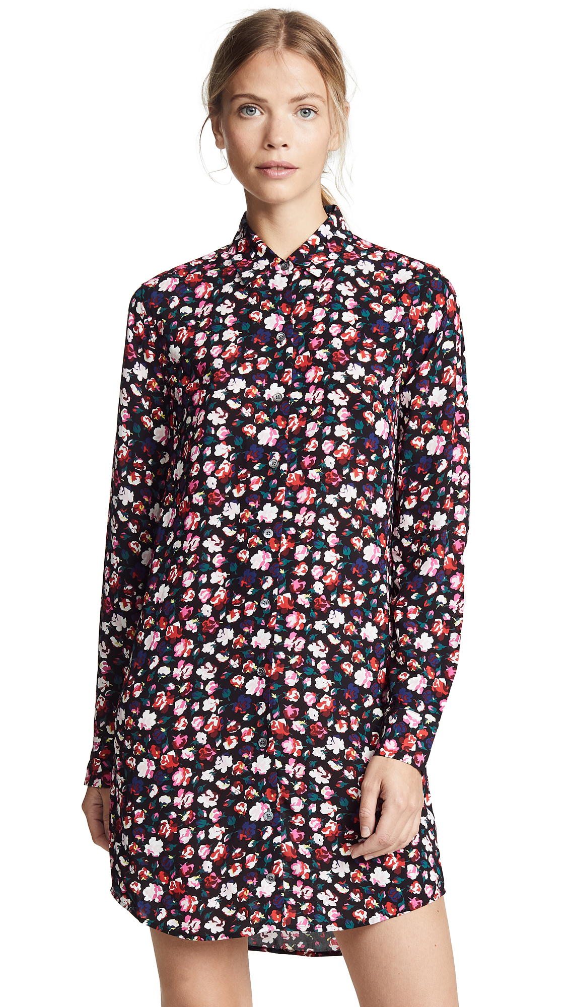 Equipment Painterly Floral Essential Dress