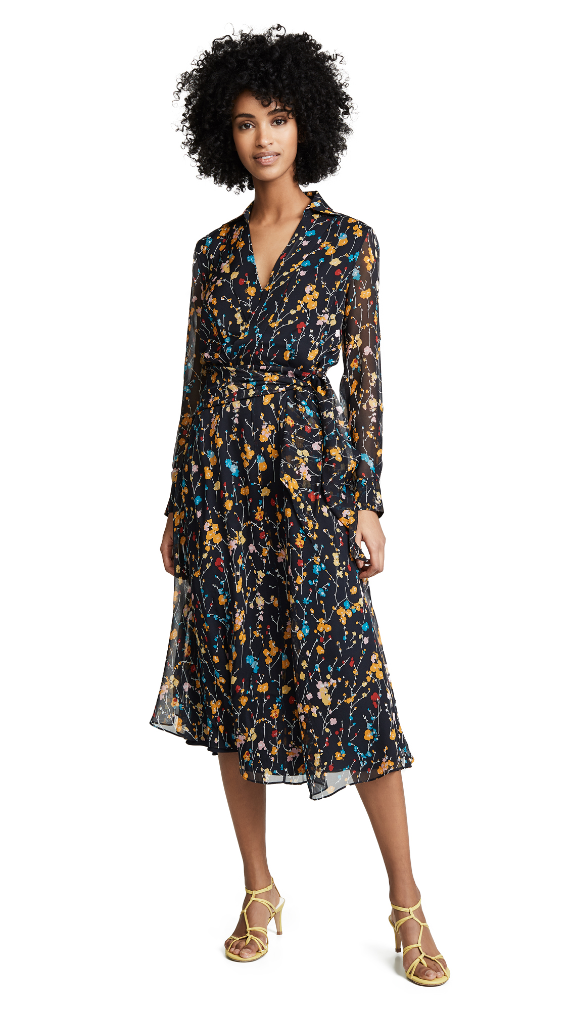 Fleurs Cascade Vivienne Dress in Eclipse Multi