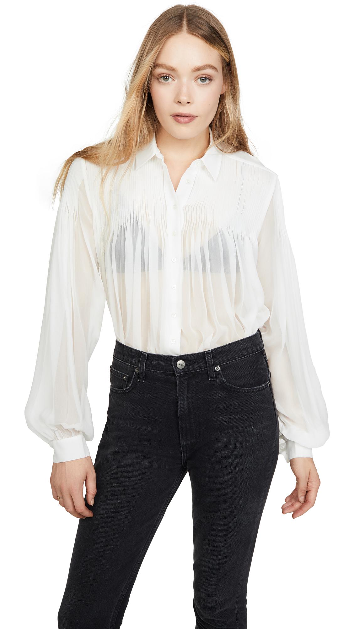 Equipment Jaslyn Silk Shirt In Nature White