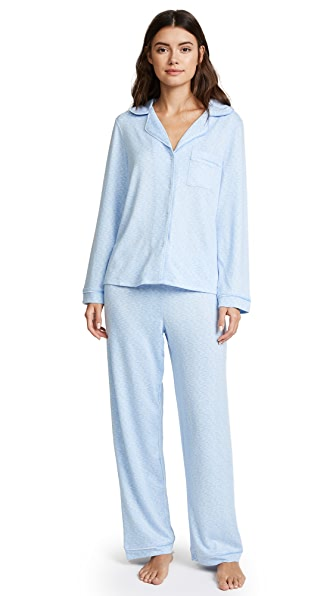 Emerson Road WhisperLuxe Notch Collar PJ Set In Chambray