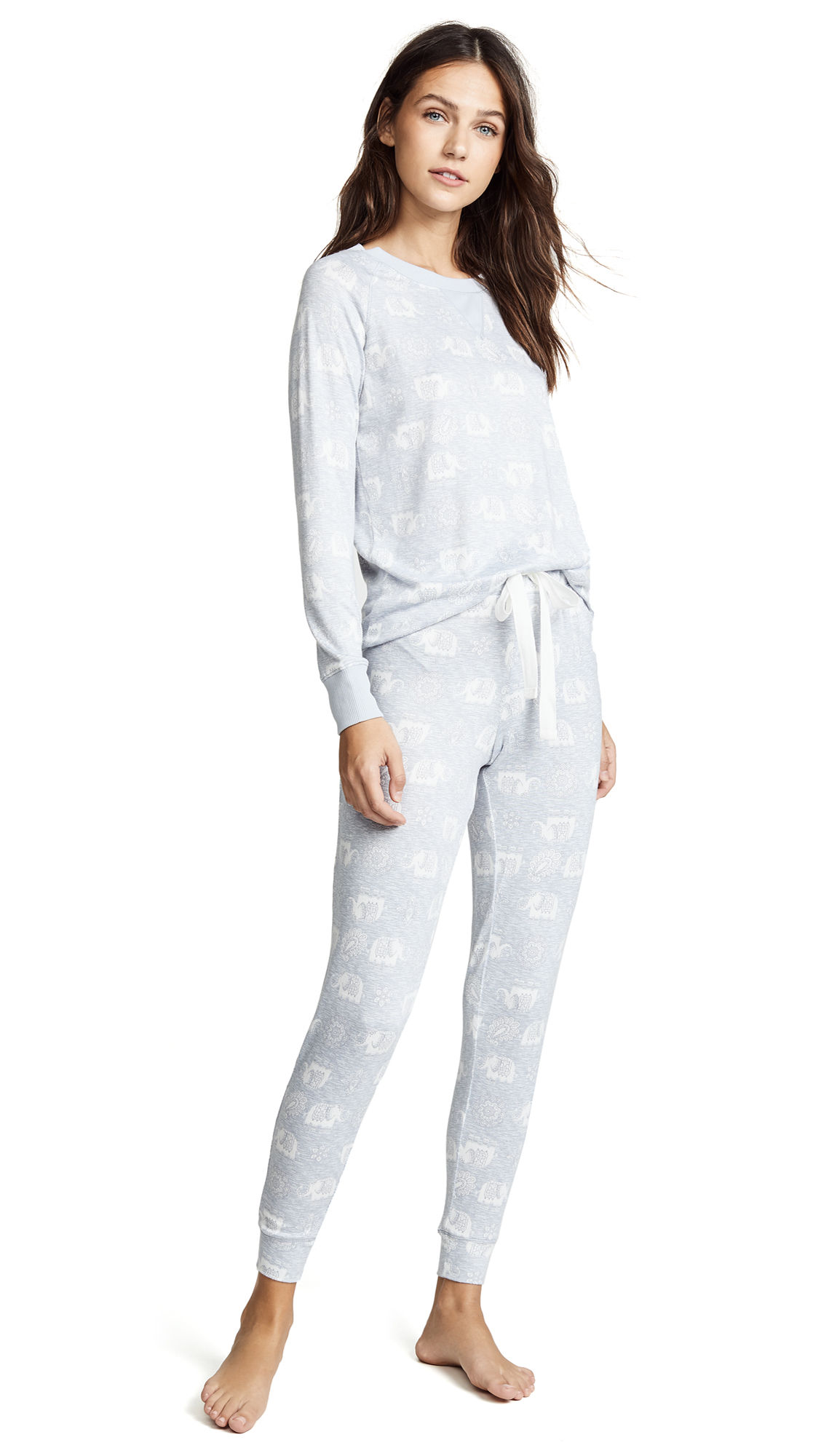 Emerson Road Elephant Tapestry PJ Set In High Rise