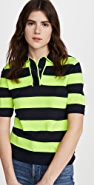 Essentiel Antwerp Vailhan Fluo Striped Polo Shirt
