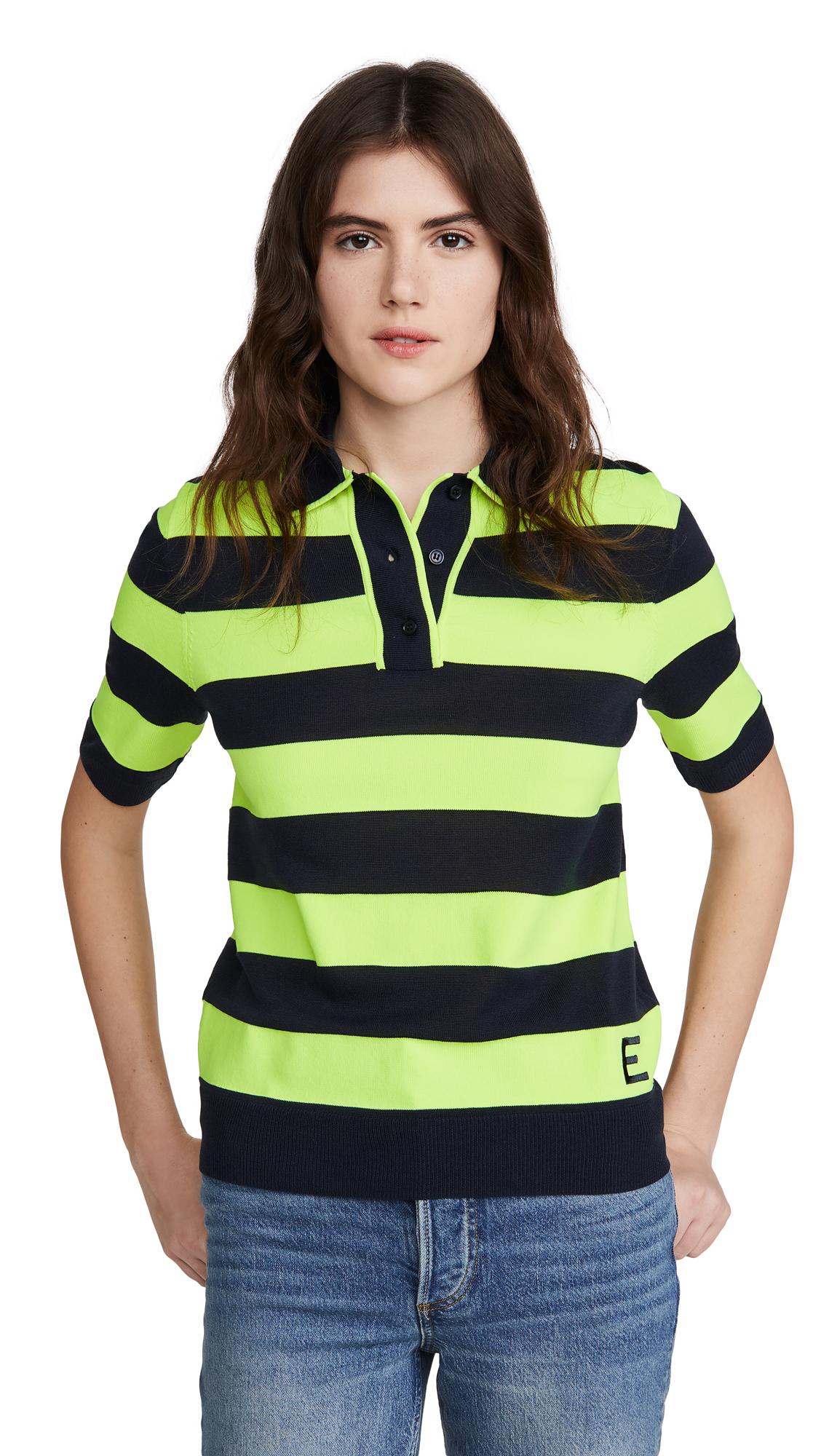 Essentiel Antwerp Vailhan Fluo Striped Polo Shirt - 50% Off Sale