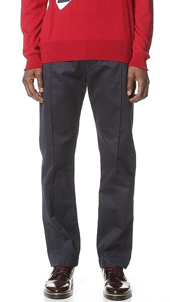 E. Tautz Pintuck Trousers