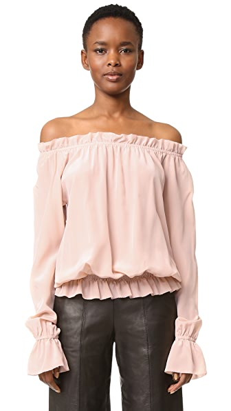 Emerson Thorpe Faye Off Shoulder Blouse - Blush
