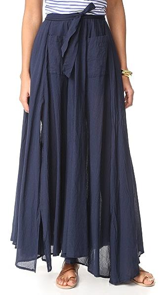 Emerson Thorpe Dakota Maxi Skirt - Navy
