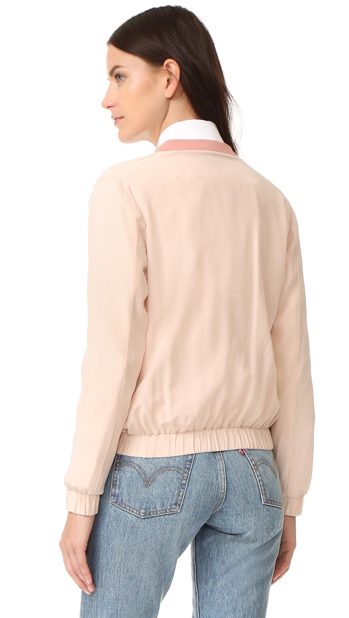 3f7256230419 Emerson Thorpe Elma Silk Bomber Jacket | SHOPBOP