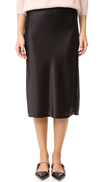 Emerson Thorpe Tori Mid Length Skirt In Black