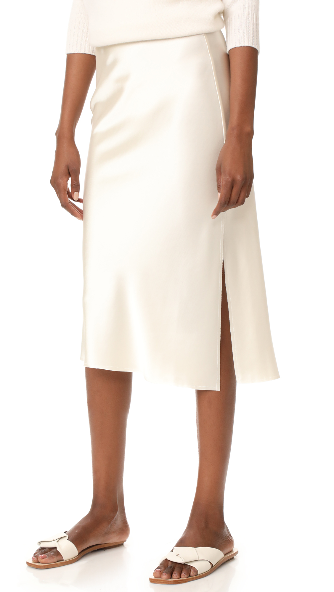 Emerson Thorpe Tori Mid Length Skirt - Ivory