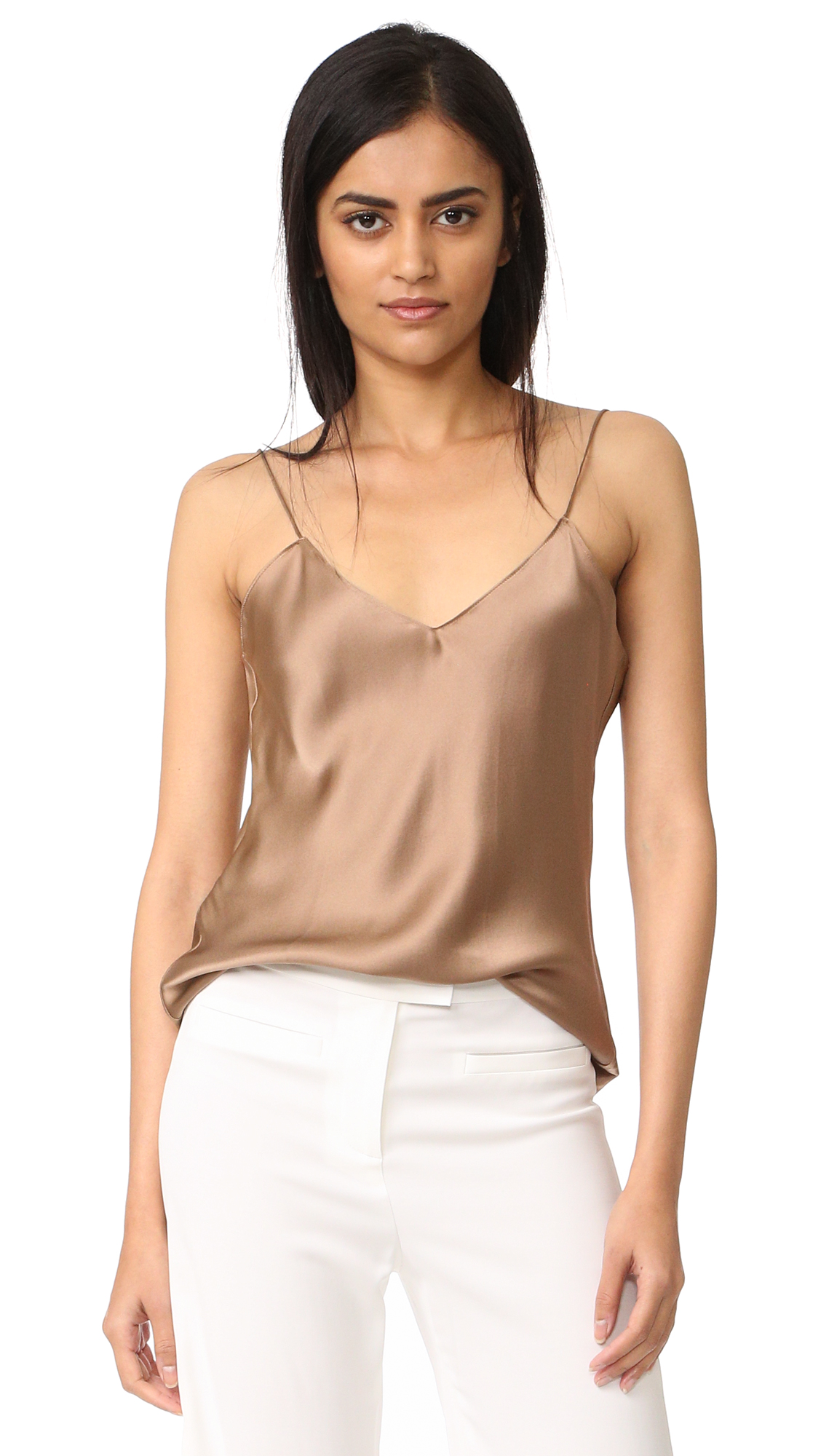 Emerson Thorpe Fiora Silk Cami Top - Coffee