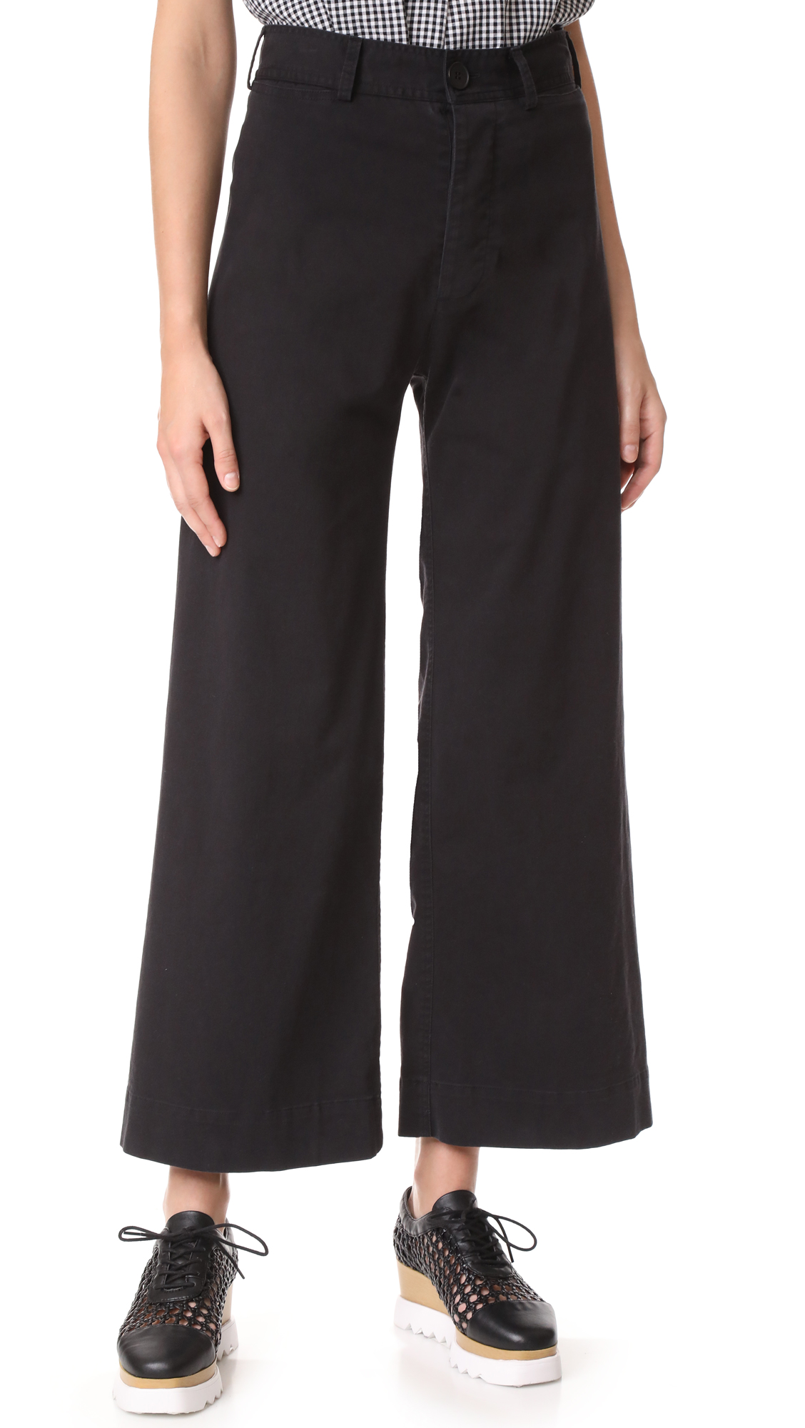 Emerson Thorpe Ryan High Waisted Wide Leg Pants - Black